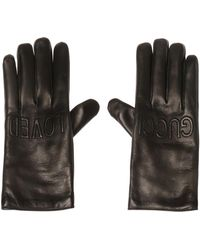 Gucci - Logo-embroidered Gloves - Lyst