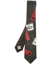 Moschino - Branded Tie - Lyst