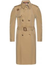 Alexander McQueen - Trench Coat With Epaulettes - Lyst