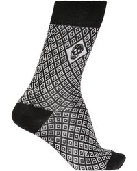 Alexander McQueen - Patterned Socks With Skull - Lyst
