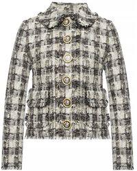 Dolce & Gabbana Embellished Blazer - Gray