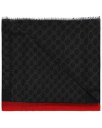 Gucci 'GG Web' Patterned Scarf - Black