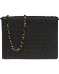 158a4a69259b Lyst - Miu Miu Dahlia Leather Shoulder Bag - Metallic