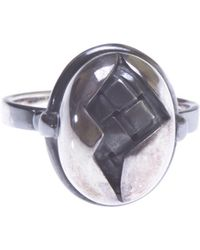 Bottega Veneta - Silver Ring - Lyst