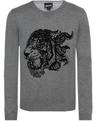 Just Cavalli - Embroidered Sweater - Lyst