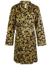 Versace - Baroque-printed Dressing Gown - Lyst