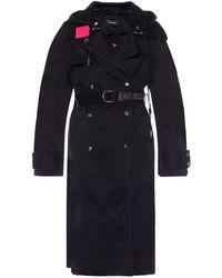DIESEL Coat With A Detachable Appliqué