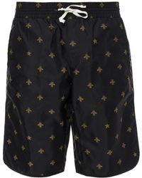 Gucci - Bee Motif Swimming Shorts - Lyst