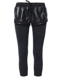 8075bc428d6 adidas By Stella McCartney Running Shorts Over Leggings in Black - Lyst