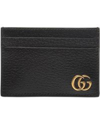 d56abf4007ba Lyst - Gucci Swing Leather Card Case in Black for Men