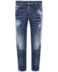 DSquared² - 'cool Girl Cropped Jean' Distressed Jeans - Lyst