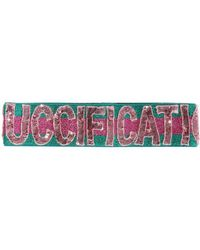 Gucci - Sequinned Lettering Band - Lyst