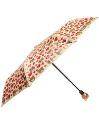 Moschino - Foldable Umbrella With Pattern - Lyst