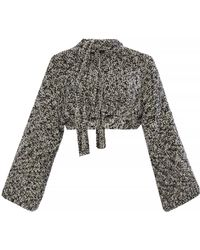 Loewe - Short Sweater With A Tie-up - Lyst