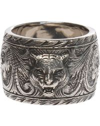 Gucci - Tiger Motif Ring - Lyst