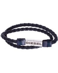 DIESEL - Double-wrap Braided Bracelet - Lyst