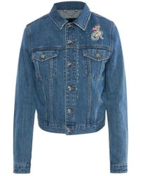DIESEL - Embroidered Denim Jacket - Lyst