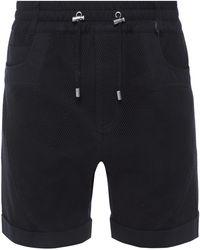Balmain - Mesh-trimmed Shorts - Lyst