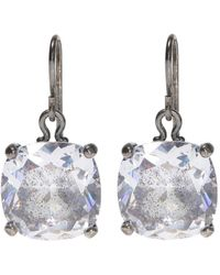 Bottega Veneta - Silver Earrings With Zirconias - Lyst