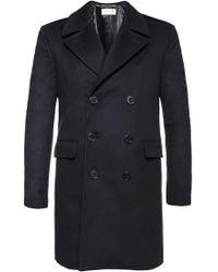 Saint Laurent - Double-breasted Coat - Lyst