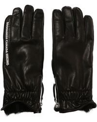 DSquared² - Leather Gloves - Lyst