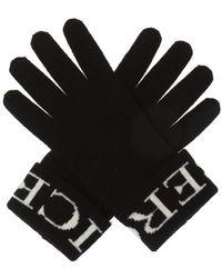 Iceberg Logo-embroidered Gloves
