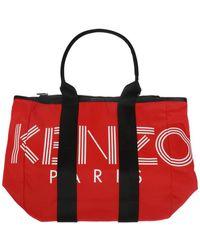KENZO - Logo Shoulder Bag - Lyst