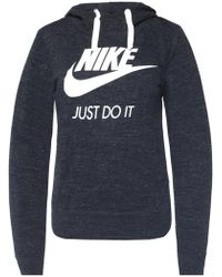Nike - Printed Hooded Sweatshirt - Lyst