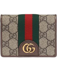 Gucci - GG Card Case Wallet With Three Little Pigs - Lyst