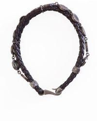Bottega Veneta - Silver Detail Leather Bracelet - Lyst