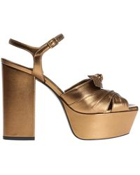 Saint Laurent - 'farrah' Platform Sandals - Lyst