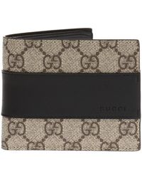 fa2b03f7a6b3 Gucci Micro Gg Supreme Canvas Bi-fold Wallet in Natural for Men - Lyst