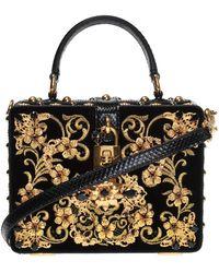 54cc3f1ad977 Dolce   Gabbana - Embellished Shoulder Bag - Lyst