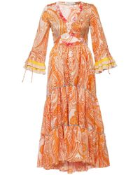 Etro - Asymmetrical Dress With Ruffles - Lyst