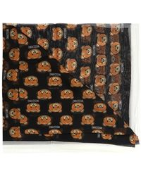 Moschino - Patterned Silk Scarf - Lyst