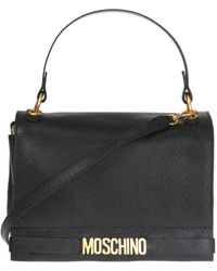 4f74f0ca3ab5 Moschino Large Drawstring Bag Black in Black - Lyst