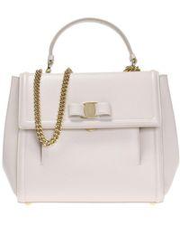 8dd90b6e99dd Ferragamo Aileen Lock Shoulder Bag - Lyst