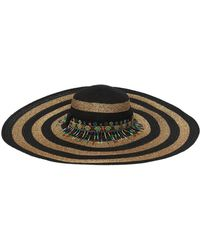 Etro - Striped Wide Brim Hat W  Beads - Lyst 883b354e9b3d