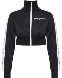 Palm Angels - Cropped Sweatshirt With Band Collar - Lyst