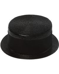 Saint Laurent - Hat With Grosgrain Band - Lyst