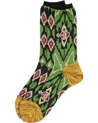 Vivienne Westwood - Ikat Socks Green - Lyst