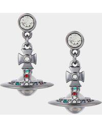 Vivienne Westwood New Petite Orb Earrings - Metallic