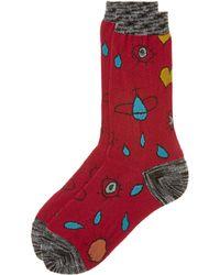 Vivienne Westwood - Red Heart And Eye Socks - Lyst