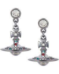 Vivienne Westwood | Gunmetal New Petite Orb Earrings | Lyst