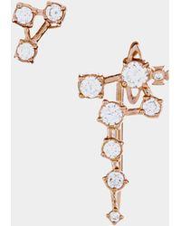 Vivienne Westwood - Constellation Earrings Pink Gold Tone - Lyst