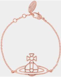 Vivienne Westwood - Thin Lines Flat Orb Bracelet Pink Gold - Lyst