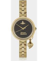Vivienne Westwood - Exclusive Bow Watch Ii Black/gold - Lyst