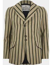 Vivienne Westwood - Peacoat Jacket Khaki/military Green - Lyst
