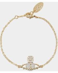Vivienne Westwood - Lena Bas Relief Bracelet Silver/golden Tone - Lyst