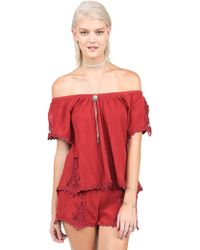 Volcom - Sparks Fly Top - Lyst